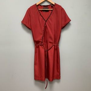 Maison Scotch Zipper trim dress